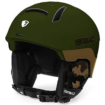 Briko Canyon Casco de Esquí, Unisex Adulto, Matt Army Camo, 53-55