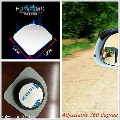 2 St/ück Toter-Winkel Weitwinkel f/ür R/ückfahrseite transparent verstellbar FidgetKute Autospiegel
