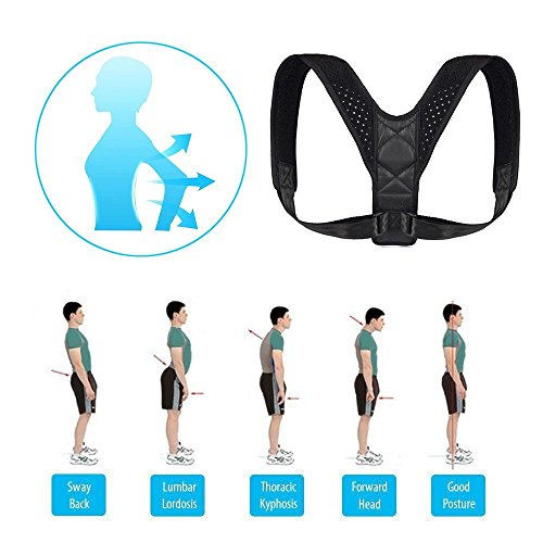 Adjustable Posture Corrector For Men & Women Clavicle Support, Improve Bad Posture, Shoulder Alignment, Muscle Memory, Upper Back and Neck Pain Relief by Tech-Prime (Image #5)