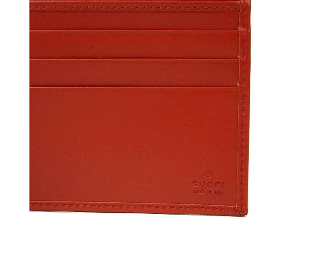 b1dd37702f0a33 Amazon.com: Gucci Hillary Lux Red Leather Bifold Wallet 225826 6516:  Clothing
