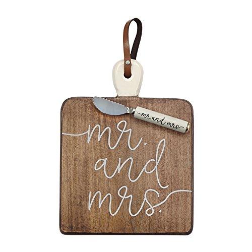 Mud Pie 4755033 Mrs. Serving Board, One Size, Brown by Mud Pie