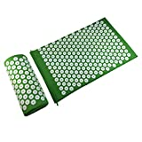 Product review for ROSENICE Acupressure Massage Mat and Pillow Set Acupuncture Therapy Pillow Set(Green)