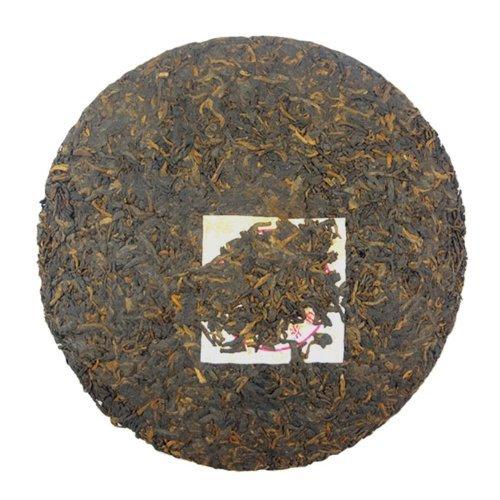 (7572 Menghai Chi Tse Beeng 2008 Aged Ripe Pu'er Puerh Tea Cake 357g)