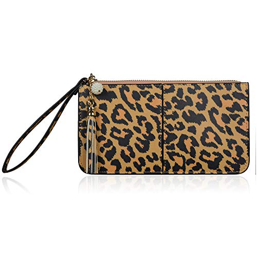 uk availability 1aa86 6b02b Befen Soft Leather Wristlet Phone Wristlet Wallet Clutch Tassels Wristlet  with Exquisite Tassels/Wrist Strap/Card slots/Cash pocket- Fit iPhone 6 ...