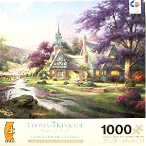 Thomas Kinkade Painter Of Light Clocktower Cottage 1000 Piece Jigsaw Puzzle By Ceaco