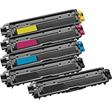 5 Inkfirst® Toner Cartridges TN221BK, TN221C TN225C, TN221M TN225M, TN221Y TN225Y Compatible Remanufactured for Brother TN-221 TN-221 Black, Cyan, Magenta, Yellow (1 Set + 1 Black) HL-3170CDW HL-3170CW HL-3140CW MFC-9130CW MFC-9330CDW MFC-9340CDW
