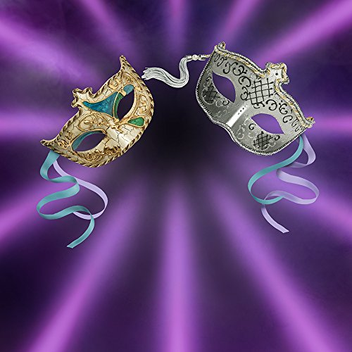Photography Backdrop - Masquerade with Two Masks - 10x10 Ft. Seamless (Masquerade Ball Backdrops)