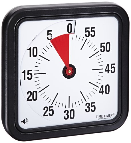 Time Timer Audible Countdown Timer, 12 Inches, Black]()