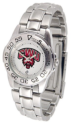 SunTime Central Washington Wildcats Gameday Sport Ladies' Watch with a Metal Band