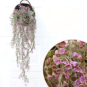 Felice Arts 2.6FT Fake Hanging Vine String Plant Plants Artificial Flower Home Hotel Office Wedding Party Garden Craft Art Decor 5