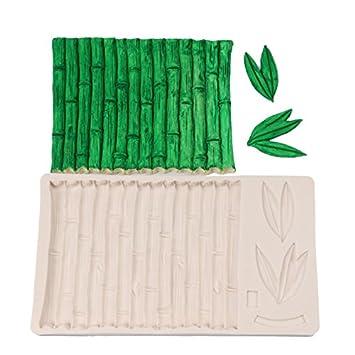 SEPTEMBER - Molde de silicona de EUROPE, diseño de bambú, corteza, azulejos de pared, moldes para tartas, ...