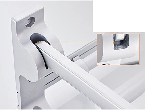 Ldwxxx Espacio de baño Bastidor de Aluminio Toallero Estante Plegable Toallero Accesorios de baño Tornillo Instalación empotrada (Color : 50cm): Amazon.es: Hogar