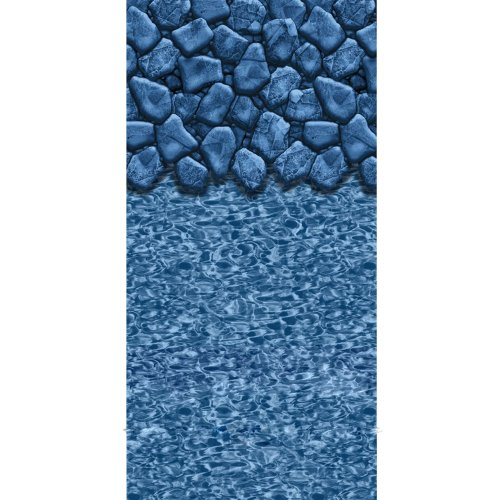 Round 52 Deep Pool Liner - Swimline Round Boulder Swirl Beaded Pool Liner, 52-Inch Deep, 24-Feet