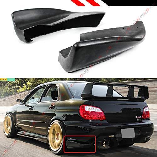 (Fits for 2005-2007 Subaru Impreza WRX Sti GDB CS Style Rear Bumper Side Aprons Valance Spat)