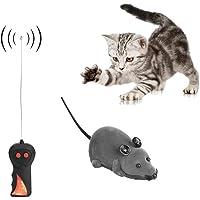 Yosoo Ratón de Control Remoto Ratón inalámbrico para el Perro de Gato Regalo Divertido de la Novedad de la Rata Juguete para Mascotas (marrón)