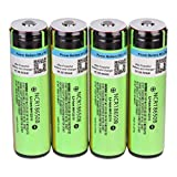 CMrtew 4PCS Rechargeable Lithium Battery 18650 Cylindrical Battery 3.7V 3400mAh for Electric Tools,Toy,LED