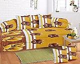 Exporthub Premium 8 Piece 120 TC Cotton Diwan Set - Yellow