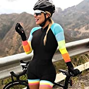 Professional Team Triathlon Long Sleeve Cycling Jersey Suit Ladies Jersey Jumpsuit Bicycle Gel Pad 6688