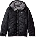 Under Armour Boys' ColdGear Reactor Hooded Jacket, Black/Graphite, Youth Large