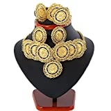 Ethlyn 24K Gold Plated Turkey Coin Jewelry Sets Luxury Choker Sets Arab Gifts Turks Africa Party Jewelry