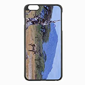 iPhone 6 Plus Black Hardshell Case 5.5inch - africa zebra savannah tree mountain Desin Images Protector Back Cover