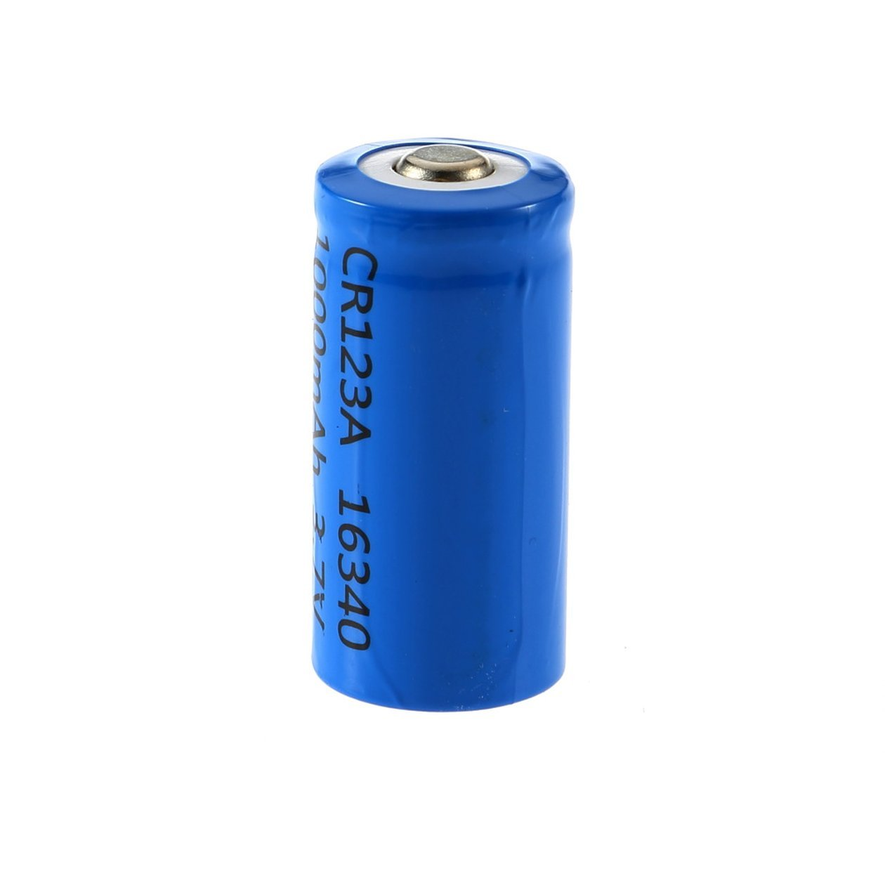 3.7V 1000mAh CR123A 16340 Li-ion Rechargeable Flashlight Battery Blue Shell Torch Batteries Replacement Tool Dupca