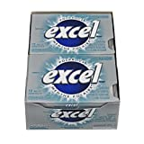 Excel Sugar-Free Gum, Polar Ice, 12 Count