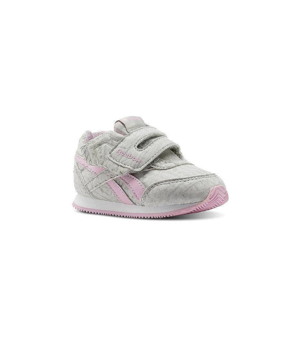 Reebok Royal Cljog 2 KC, Zapatillas de Estar por casa Bebé Unisex, Gris (Elephant-Cloud Grey/Charming Pink 000), 20 EU Zapatillas de Estar por casa Bebé Unisex CN0992