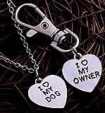 Set Fashion Jewelry Heart Pendant I Love My Owner