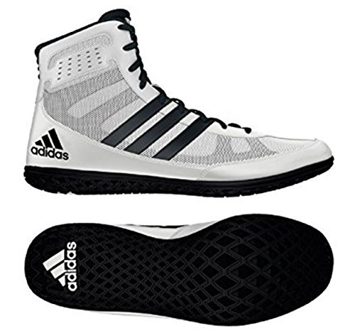 Adidas Mat Wizard.3 Wrestling Shoes - White/Black - Mens - 9