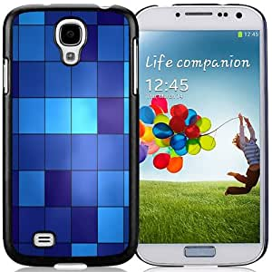 Beautiful Custom Designed Cover Case For Samsung Galaxy S4 I9500 i337 M919 i545 r970 l720 With Blue Cube Pattern Phone Case Cover