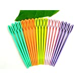 DierCosy Pack of 40 Multicolour Childrens Plastic 7cm Needles. For Sewing, Binca and Tapestry