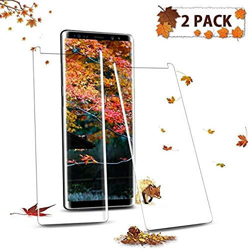 (2Pack) Samsung Galaxy Note 8 Tempered Glass Screen Protector, EcoPestuGo [HD Clear][Anti-Bubble][9H Hardness][Anti-Scratch][Anti-Fingerprint] Screen Protector For Note 8 by FURgenie