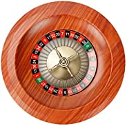 Wooden Roulette Wheel, 12 Inch Russian Roulette Set Board Game Lottery Turntable Desktop Entertainment Product