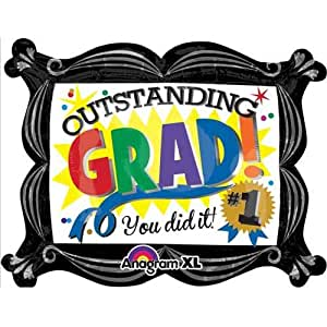PARTY CENTRE Anagram Outstanding Grad SuperShape Balloon 30 x 23in