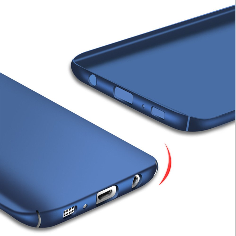 Galaxy S7 Case Blue Heyqie Ultra-thin Metallic Texture Anti-fingerprint//skid//fade Protective PC Back Phone Cover Case for Samsung Galaxy S7G9300 G930F G930A G930V G930M SKIN TOUCH FEEL