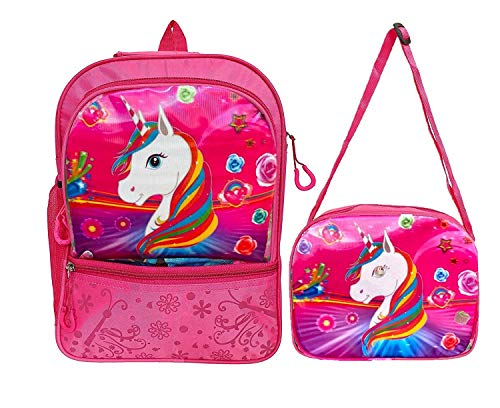 Aashiya Trades Aashiya Pink School Bag & Sling Bag – Combo Pack School Bag Set for Girls Age Group 2 to 6 Years