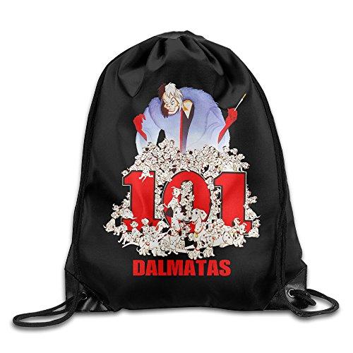 KSWFA 101 Dalmatians Backpack Gymsack Sack Pack White