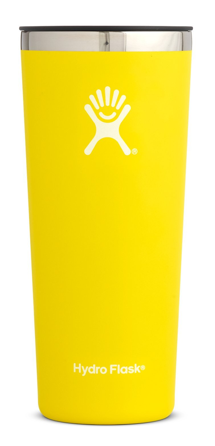 Hydro Flask 22 oz Double Wall Vacuum Insulated Stainless Steel Travel Tumbler Cup with BPA Free Press-In Lid, Lemon
