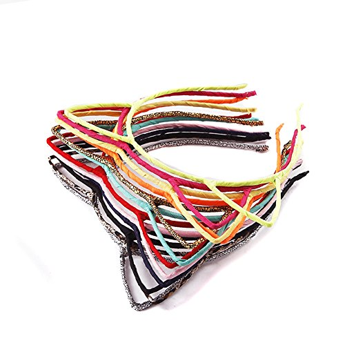 Price comparison product image 12PCS Lovely Cat Ears Hair Hoop Headband Hair Band Headwear Hairpin Hair Decorations Colour Random