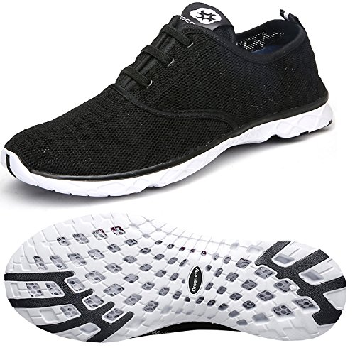 Dreamcity Women's water shoes athletic sport Lightweight walking shoes Blackwhite 9 B M  US