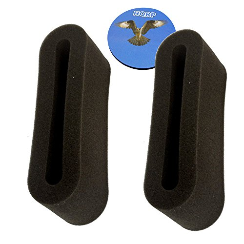 HQRP 2-pack Outer Circular Pre-Motor Filter for Bissell PowerGroom Helix Rewind 98N4, 948N41, 98N41, 98N4W, 2038161 Vac Vacuum Cleaner Coaster - Outer Circular Filter
