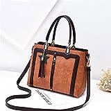 Women'S Single Shoulder Bag And Cross Antique Handbag,Khaki,31X23X13Cm