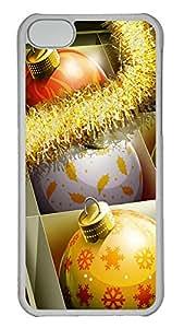 iPhone 5C Case HD Christmas Balls PC iPhone 5C Case Cover Transparent