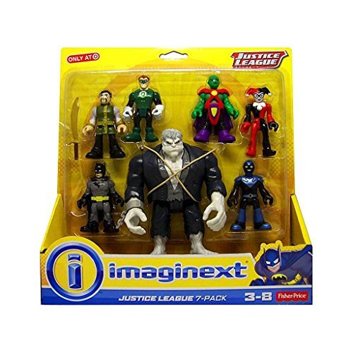 Fisher-Price Imaginext Justice League Figure 7-Pack - Multiple Levels of Play