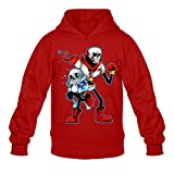 Men's Undertale Sans And Papyrus Hooded Sweatshirt Red S