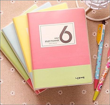 Amazon.com : Korean Cute School Study Planner Agenda (green ...