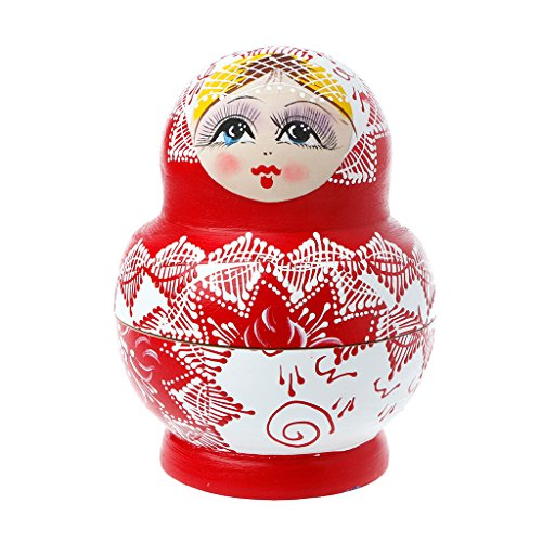 Russian Matryoshka Doll Costume (Facebabyone Colorful Handmade Cutie Russian Matryoshka Doll Nesting Toys Wooden Gifts)