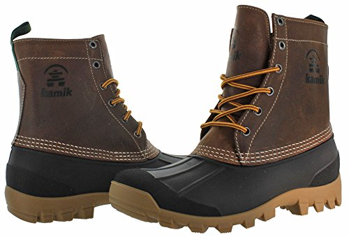 Yukon Hunting Dark Leather Toe 6 Brown Men Round Boot Brown Kamik Pqd0WzwP
