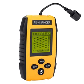 TL88E Buscador de Peces portátil con Sensor de sonda Detector de Profundidad de Profundidad Detector de Peces Accesorio de Pesca: Amazon.es: Deportes y aire ...